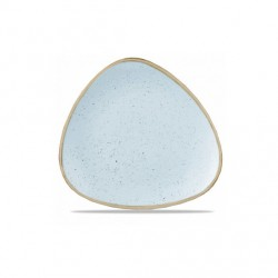 Assiette triangulaire bleue...