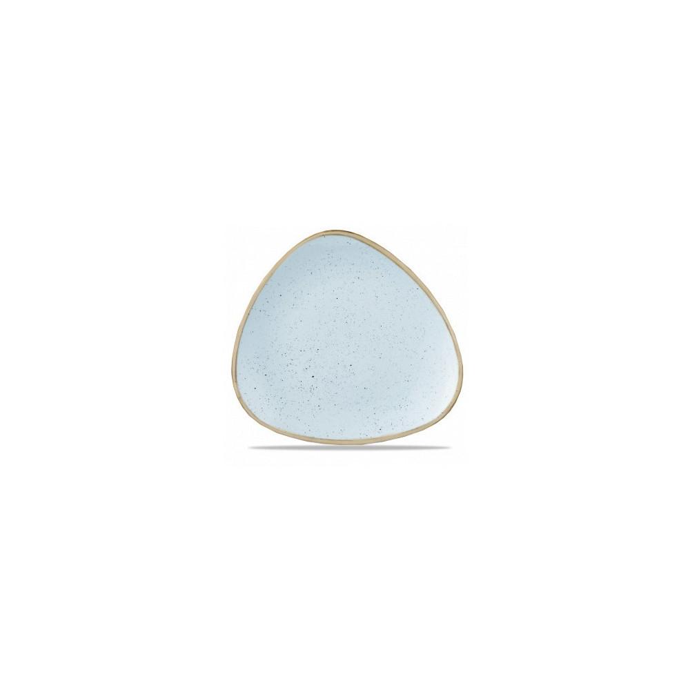 Triangular blue plate 26 cm Stonecast