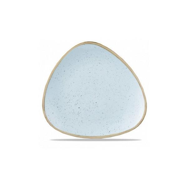 Piatto azzurro triangolare 26 cm Stonecast
