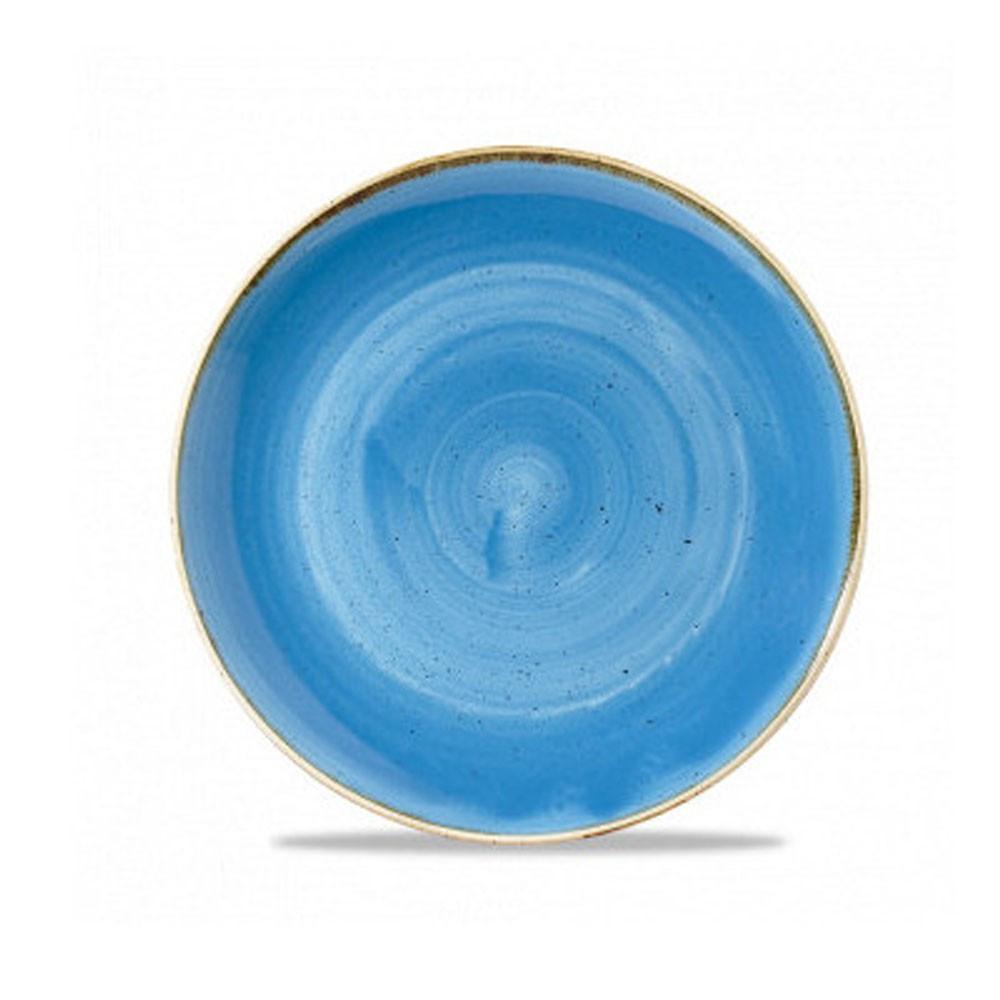 Blue coupe plate 28.8 cm Stonecast