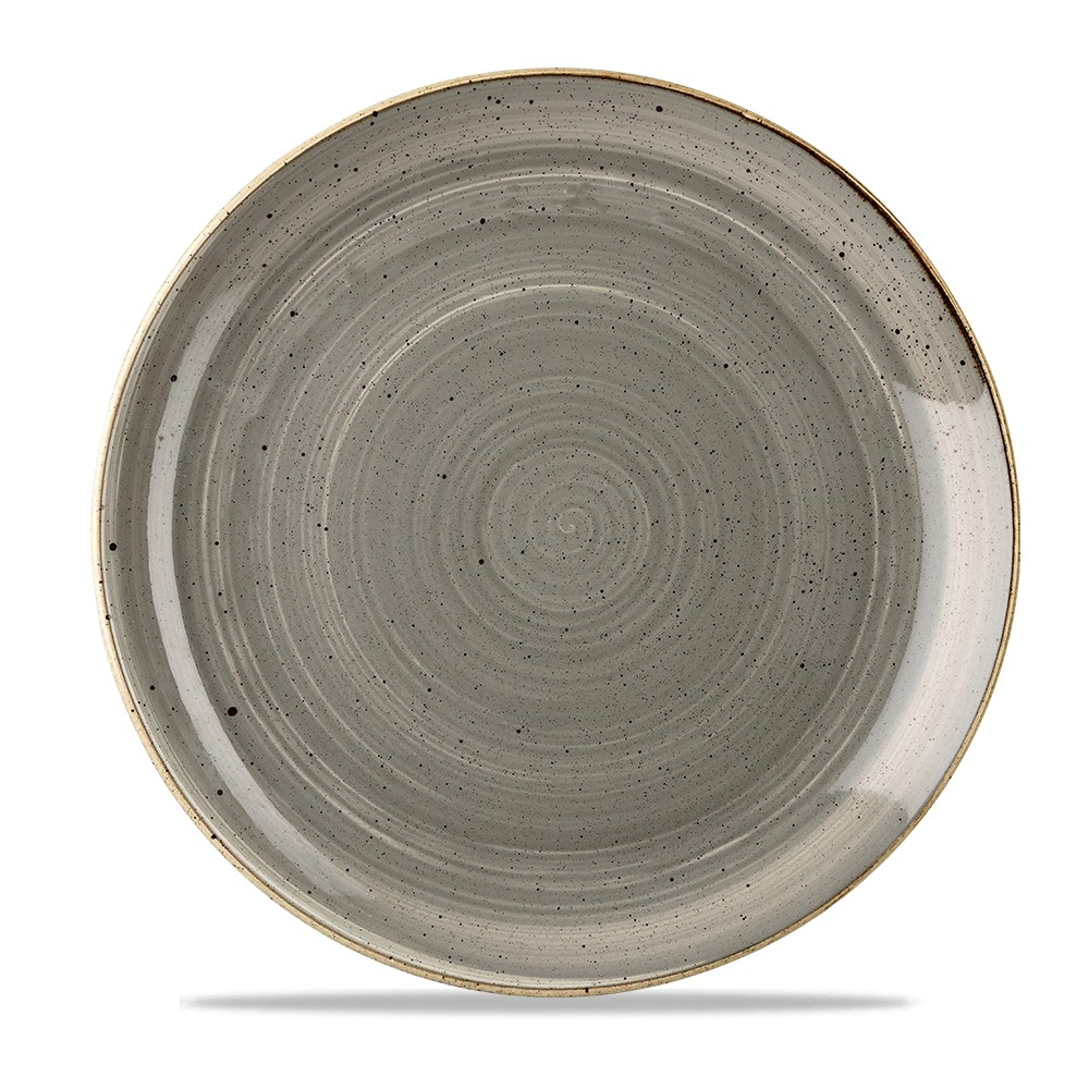 Gray coupe plate 28.8 cm Stonecast
