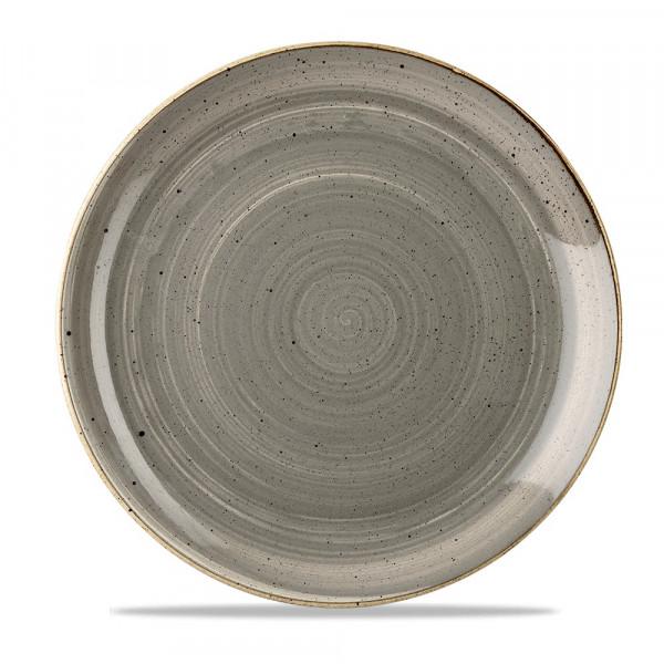Assiette coupe grise 28,8 cm Stonecast