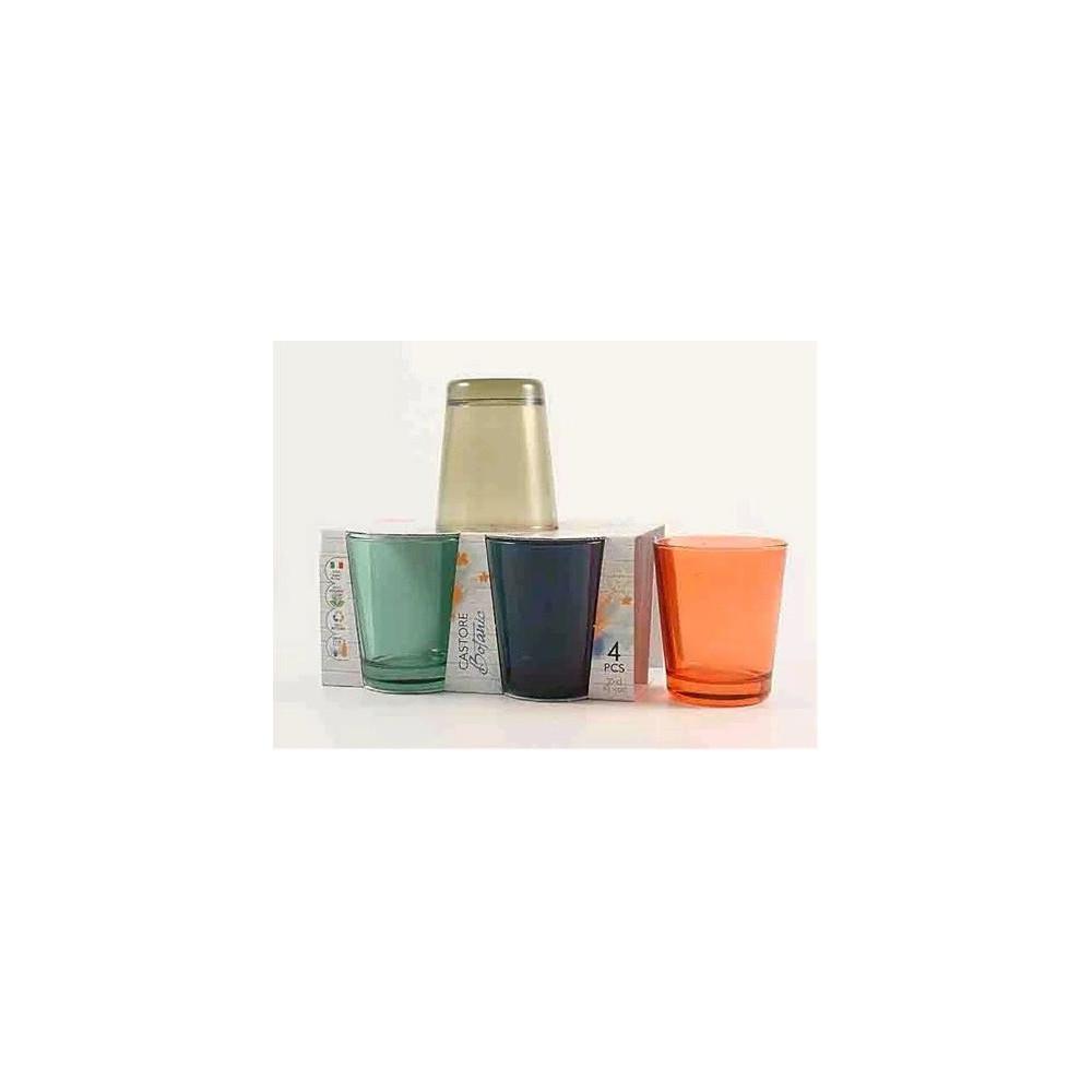 Bicchieri Castore cl 30 colori assortiti