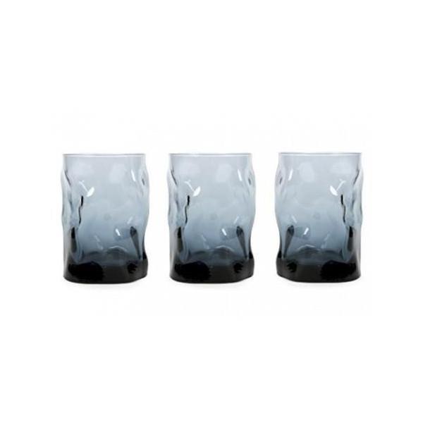 Glasses cl 30 Sorgente Ocean - Blue pack of 3 pieces