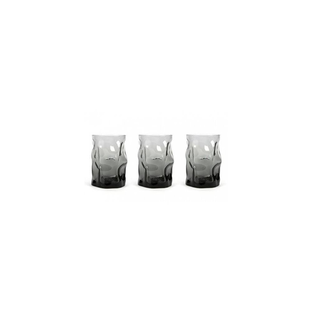 Glasses cl 30 Sorgente Onice pack of 3