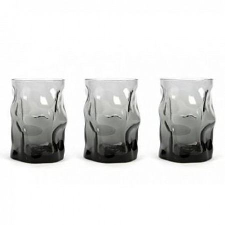 Glasses cl 30 Sorgente Onice pack of 3 pieces