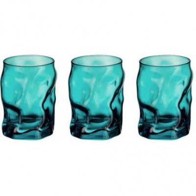 Bicchieri cl 30 Sorgente Azzurro confezione da 3 pezzi