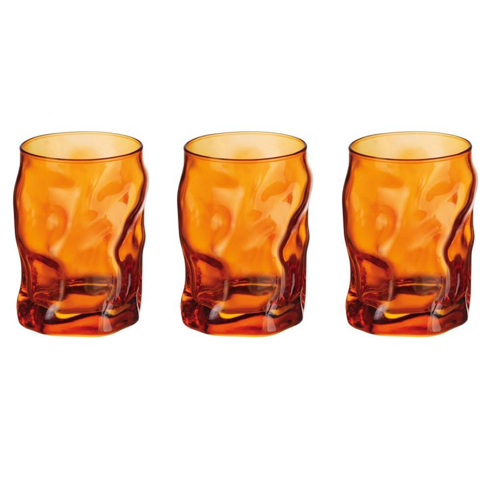 Glasses cl 30 Sorgente Arancio pack of 3