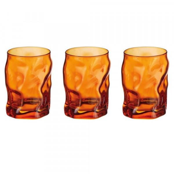 Glasses cl 30 Sorgente Arancio pack of 3 pieces