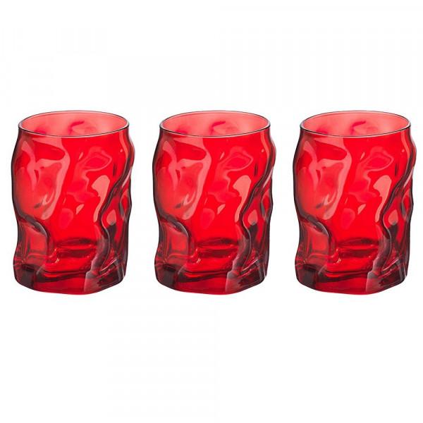 Bicchieri cl 30 Sorgente Rosso confezione da 3 pezzi