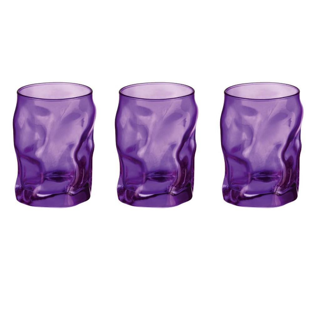 Glasses cl 30 Sorgente Viola pack of 3