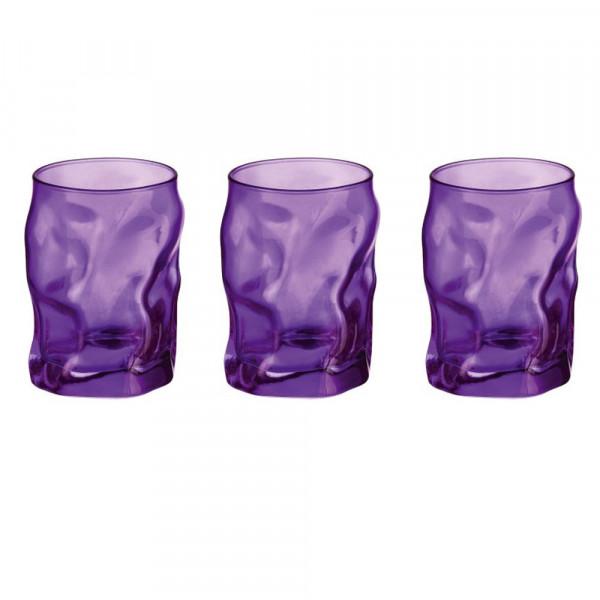 Bicchieri cl 30 Sorgente Viola confezione da 3 pezzi