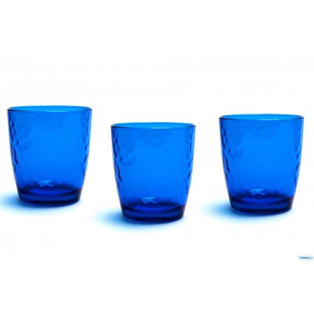 Glasses cl 32 Palatina Blu pack of 3 pieces