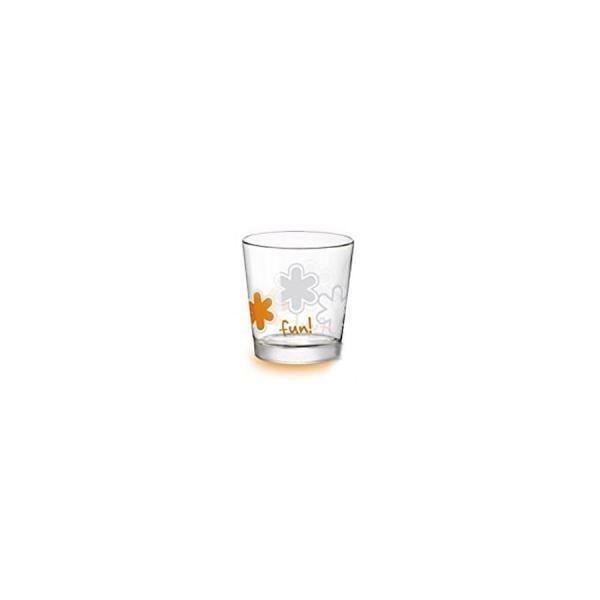 Water Glass Fun Sestr Orange pack of 3 glasses