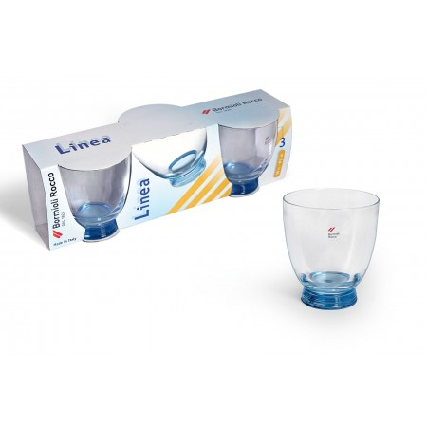 Bicchiere acqua 30 cl Linea Azzurro confezione da 3 bicchieri