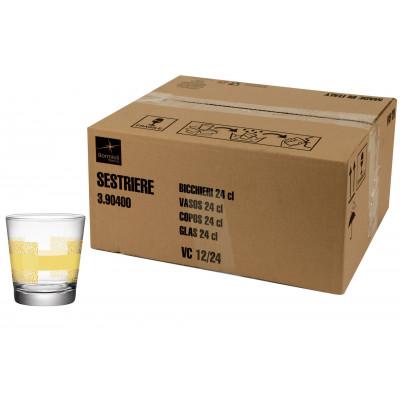 Bicchiere acqua 24 cl Naturalmente Giallo Sestriere