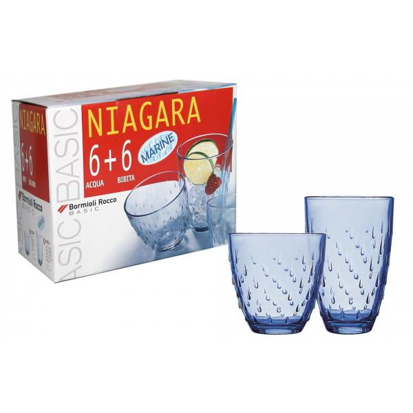 Bicchieri acqua e bibita Niagara Acqua set da 12 pezzi