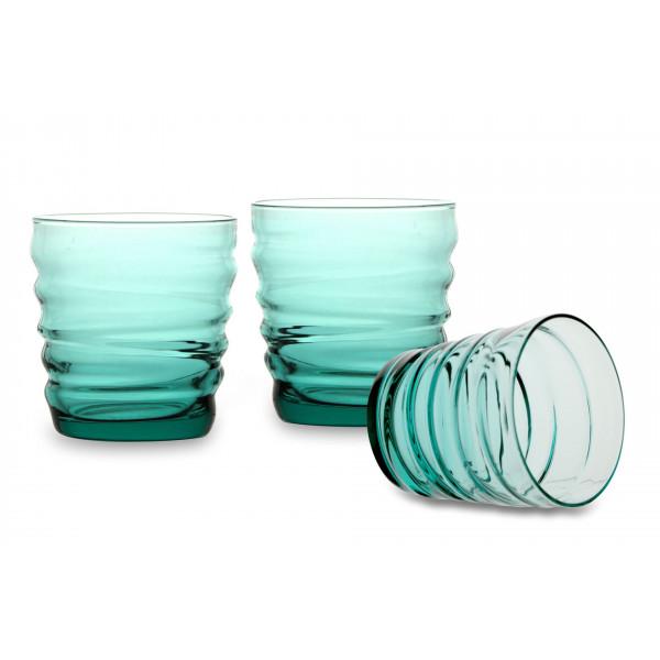 Water glass Riflessi Acqua Cool Green pack of 3 glasses