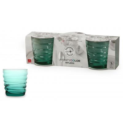 Verre à eau Riflessi Acqua Cool Green pack de 3 verres