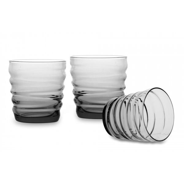 Bicchiere acqua Riflessi Acqua Light Onyx confezione da 3 bicchieri