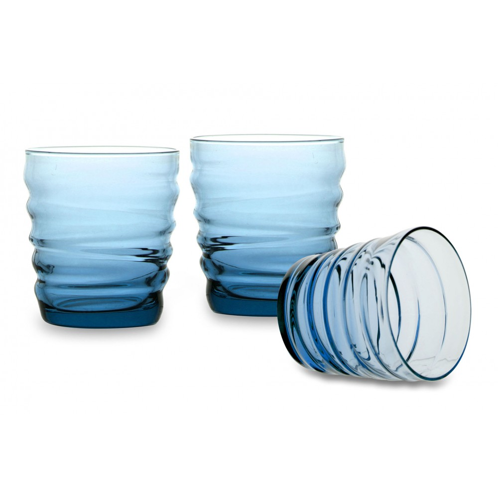 Water glass Riflessi Acqua Sapphire Blue