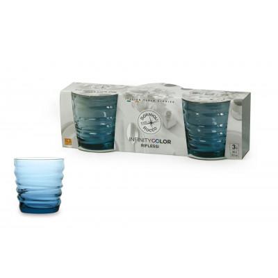 Bicchiere acqua Riflessi Acqua Sapphire Blu confezione da 3 bicchieri
