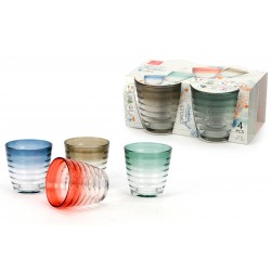 Glasses 27 cl Botanic Circles pack of 4 pieces