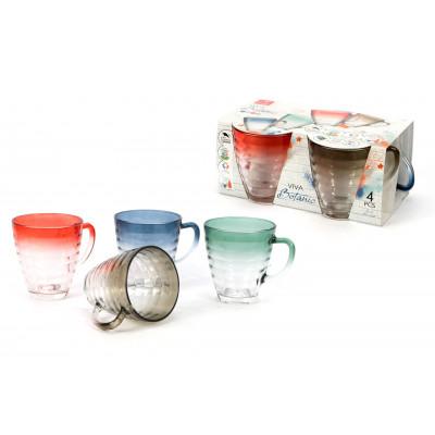 Tasses 31 cl Botanic pack de 4 pièces