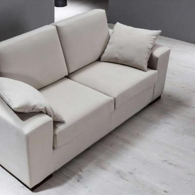 Canapé Fiore 3 places, style moderne, tissu amovible et lavable