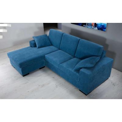Canapé Fiore avec péninsule droite/gauche, tissu amovible et lavable