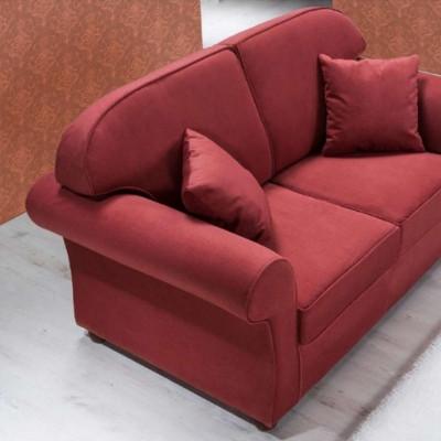 Divano Niko 3 posti stile moderno, tessuto sfoderabile e lavabile