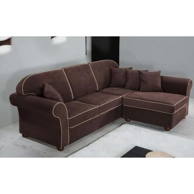 Canapé Niko 3 places avec péninsule de style moderne, tissu amovible et lavable