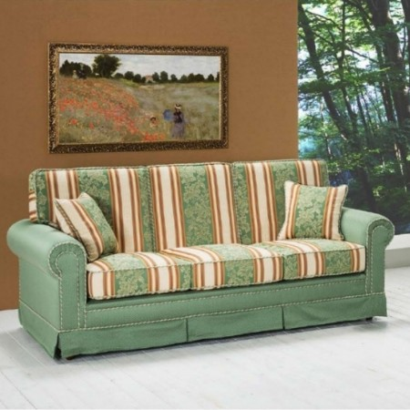 Berto 3 seater sofa classic style, removable and washable