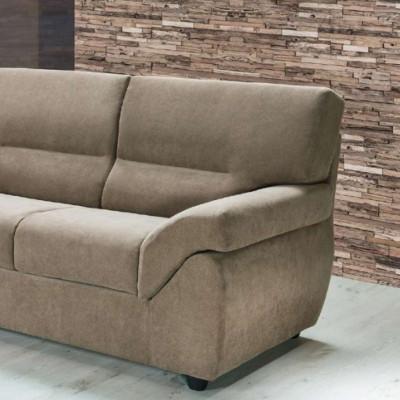 Canapé Golia 3 places, style moderne, tissu amovible et lavable