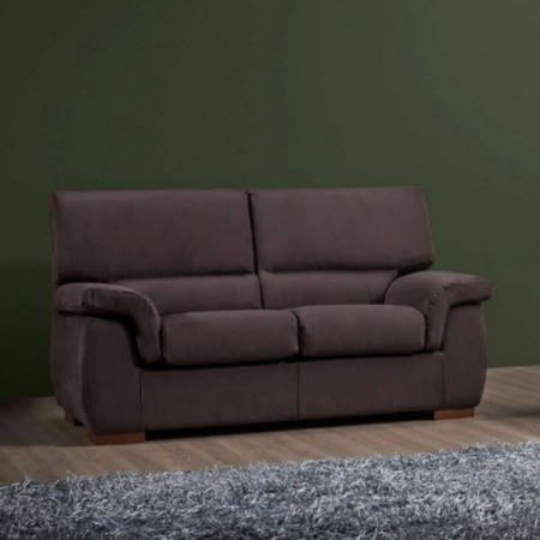 Divano Icaro 2 posti stile moderno, tessuto sfoderabile e lavabile