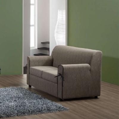 Canapé Moris 2 places, style moderne, tissu amovible et lavable