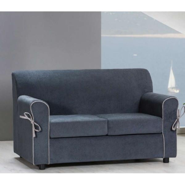 Divano Moris 2 posti stile moderno, tessuto sfoderabile e lavabile