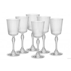 BORMIOLI ROCCO AMERICA '20S PACK OF 6 COCKTAIL GLASS GLASSES H.20,2 CL.25 DIAMETER 7,8 122129