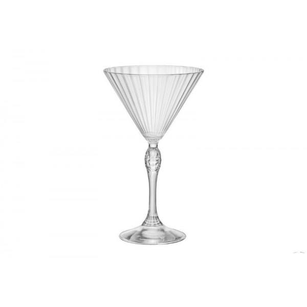 BORMIOLI ROCCO AMERICA '20S PACK OF 6 GLASSES FOR COCKTAIL MARTINI H.18 CL.25 DIAMETER 10.8 122142