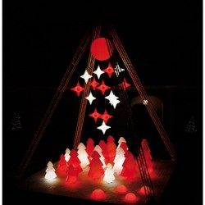SLIDE LIGHTREE luminous tree led floor lamp H 200 CM