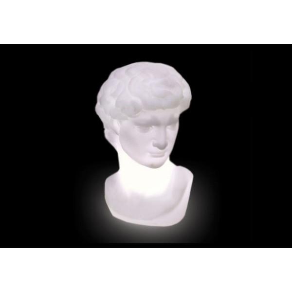 SLIDE, scultura luminosa Davide, in polietilene