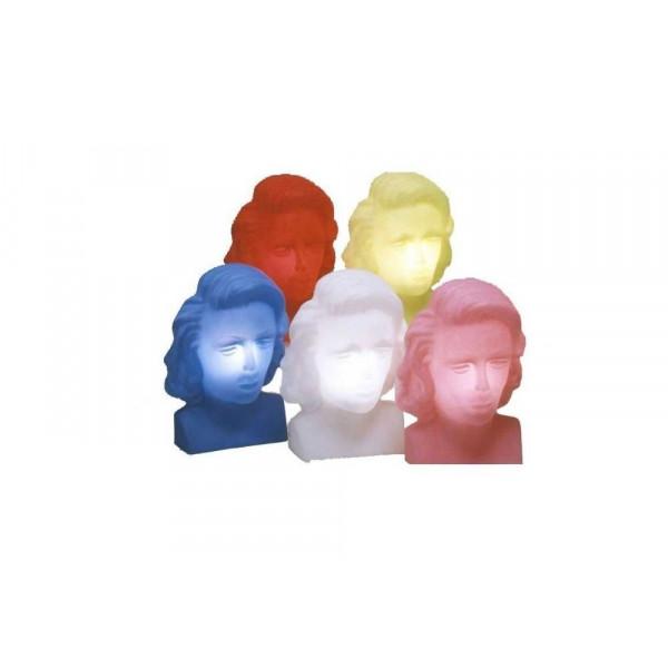 Slide Marylin luminous sculpture, in polyethylene