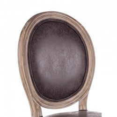 Bizzotto SEDIA MATHILDE Dark in ecopelle, Confezione x 2 sedie