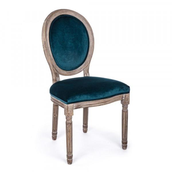 Bizzotto SEDIA MATHILDE DEEP in velluto, Confezione 2 sedie