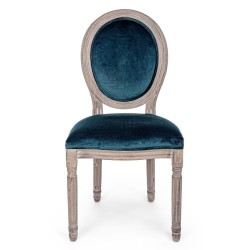 Bizzotto MATHILDE DEEP CHAIR in velvet, Pack of 2 chairs
