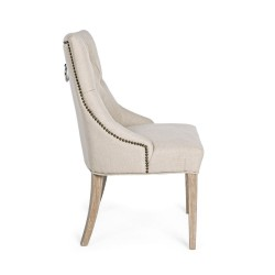 Bizzotto CALLY CHAIR natural fabric,