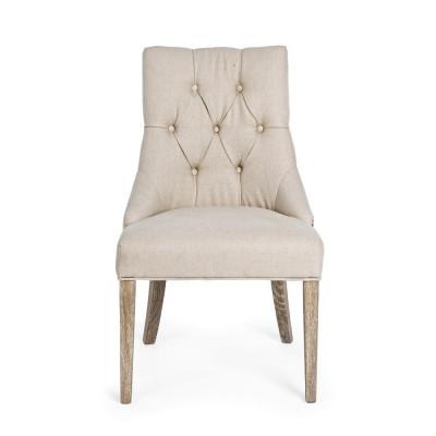 Bizzotto CALLY CHAIR tissu naturel, Lot de 2 chaises