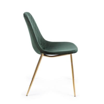 Bizzotto Terry chair, dark green velvet,