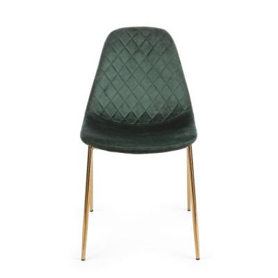 Bizzotto sedia Terry, velluto verde scuro, Confezione x 4 sedie