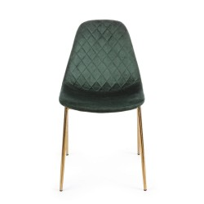 Bizzotto Terry, velours vert foncé, Lot de 4 chaises